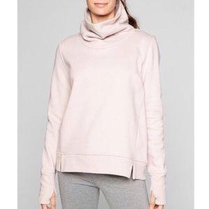Athleta Funnel Fleece Blush Pink Pullover